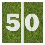 50.o Invitación del cumpleaños Invitación 13,3 Cm X 13,3cm