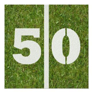 50.o Invitación del cumpleaños