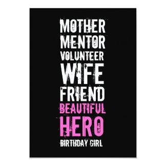 50.o Invitación del cumpleaños - héroe voluntario