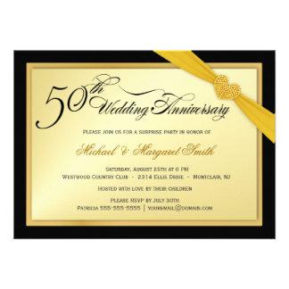 50 o Invitación del fiesta de sorpresa del
