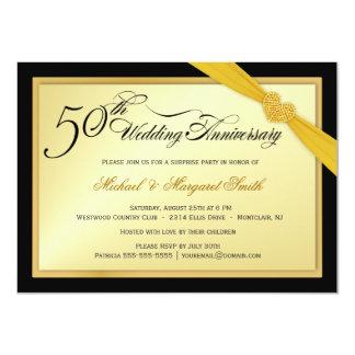 50.o Invitación del fiesta de sorpresa del
