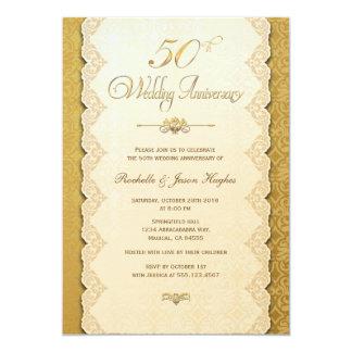 50.o Invitación del oro del aniversario
