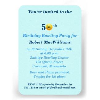 50 o Invitación feliz del fiesta de la cara del cu