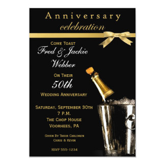 50.o Invitaciones de la fiesta de aniversario Invitación 12,7 X 17,8 Cm
