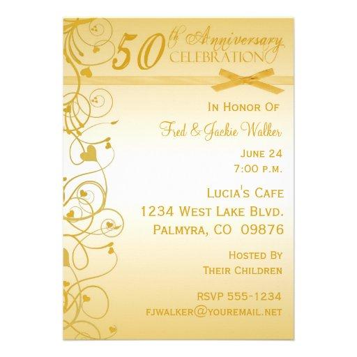 50.o Invitaciones de la fiesta de aniversario Invitaciones Personalizada