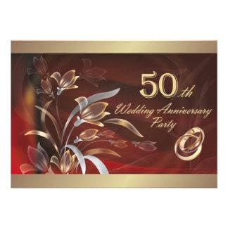 50 o Invitaciones de la fiesta de aniversario del Invitaciones Personalizada