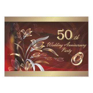 """50.o Invitaciones de la fiesta de aniversario del Invitación 5"""" X 7"""""""