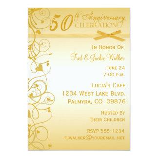 """50.o Invitaciones de la fiesta de aniversario Invitación 5"""" X 7"""""""