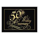 50.o Invitaciones de la fiesta de aniversario - or