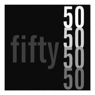 50.o Invitaciones de la fiesta de cumpleaños Invitación 13,3 Cm X 13,3cm