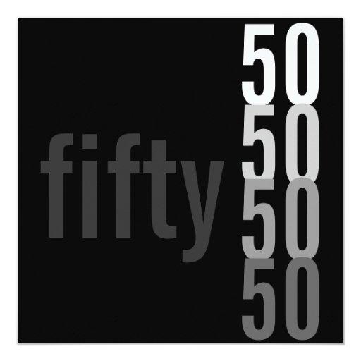 50.o Invitaciones de la fiesta de cumpleaños Invitaciones Personalizada