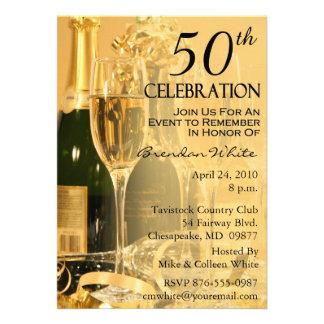 50 o Invitaciones de la fiesta de cumpleaños Comunicado