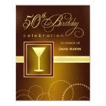 50.o Invitaciones de la fiesta de cumpleaños - Comunicados Personalizados