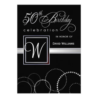 50 o Invitaciones de la fiesta de cumpleaños - mon