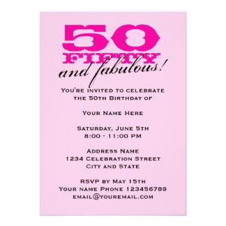 50 o Invitaciones de la fiesta de cumpleaños para Comunicado Personal