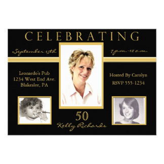 50 o Invitaciones de la foto de la fiesta de cumpl Invitacion Personalizada