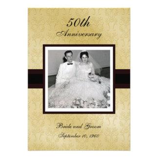 50 o Invitaciones de la foto del aniversario