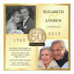 50.o Invitaciones de la foto del aniversario de Anuncios Personalizados