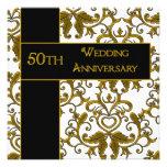 50.o Invitaciones del aniversario de boda Invitación