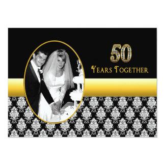 """50.o Invitaciones del aniversario de boda Invitación 5.5"""" X 7.5"""""""