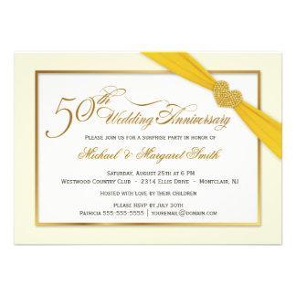 50 o Invitaciones del aniversario de boda de oro Invitación