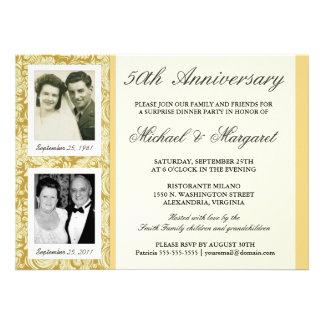 50.o Invitaciones del aniversario - entonces y aho Comunicados Personales