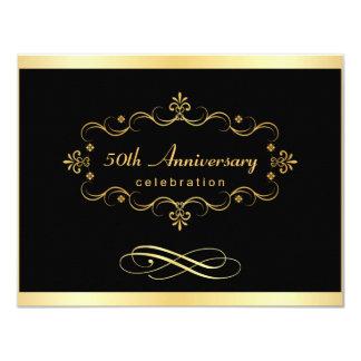 """50.o Invitaciones del aniversario - negocio Invitación 4.25"""" X 5.5"""""""