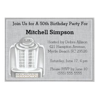 """50.o Invitaciones del cumpleaños de la máquina Invitación 5"""" X 7"""""""