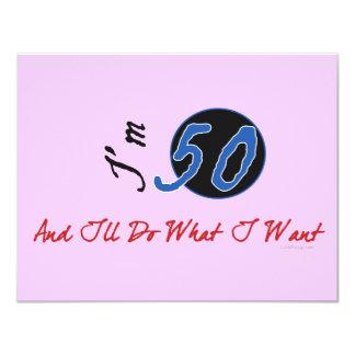"""50.o Invitaciones del cumpleaños Invitación 4.25"""" X 5.5"""""""