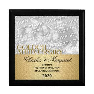 50.o Joyero de oro de la foto del aniversario Caja De Joyas