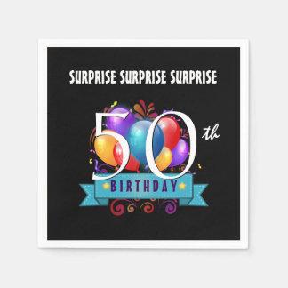 50.o La fiesta de cumpleaños de la SORPRESA hincha Servilleta Desechable