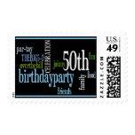 50.o La fiesta de cumpleaños invita a sellos