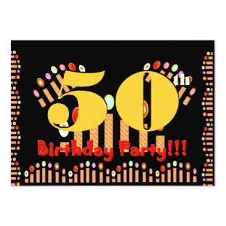 """50.o La fiesta de cumpleaños mira al trasluz la Invitación 5"""" X 7"""""""