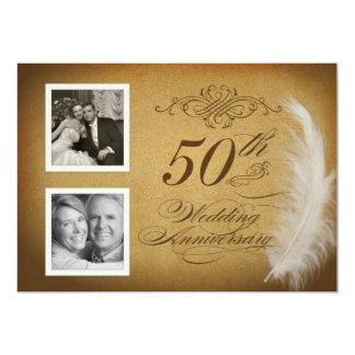 """50.o La foto de la pluma 2 del vintage del Invitación 5"""" X 7"""""""
