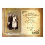 50.o la foto envejecida del aniversario de boda invitación personalizada