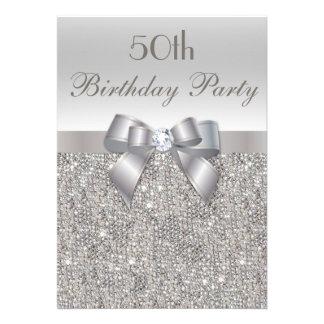 50 o Lentejuelas arco y diamante de la plata de l Anuncio Personalizado