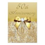 50.o Lentejuelas y arco del aniversario de boda Comunicado Personalizado