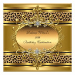 50.o Leopardo elegante 4 del negro del oro de la f Anuncios