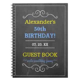 50.o Libro de huésped de la fiesta de cumpleaños Libretas Espirales