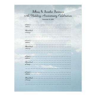 50.o Libro de visitas de la fiesta de aniversario Plantillas De Membrete