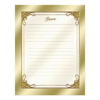 50.o Lista de la huésped del aniversario de boda Membrete A Diseño
