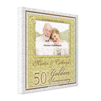 50.o Lona personalizada 8x8 de la foto del anivers Impresión En Lona Estirada