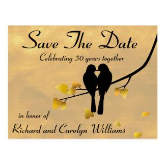 50.o Los Lovebirds del aniversario ahorran la Postales