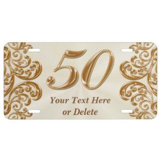 50.o Los regalos del aniversario personalizaron la Placa De Matrícula