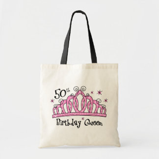 50.o LT de la reina del cumpleaños de la tiara Bolsa Tela Barata