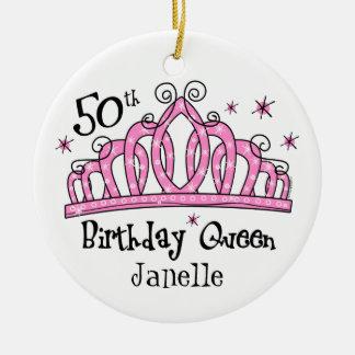 50.o LT de la reina del cumpleaños de la tiara Adorno De Reyes