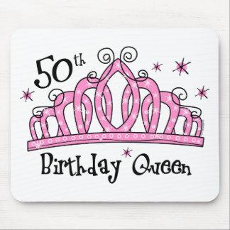 50.o LT de la reina del cumpleaños de la tiara Alfombrillas De Ratón