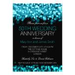 50.o Luces de la turquesa del aniversario de boda