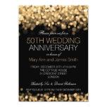 50.o Luces del oro del aniversario de boda Comunicado Personalizado