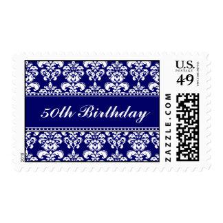 50.o Marina de guerra del cumpleaños y sellos blan